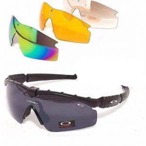 Oakley Multi-Color Glasses with 4 shades and Free Oakley Hard Pouch 10
