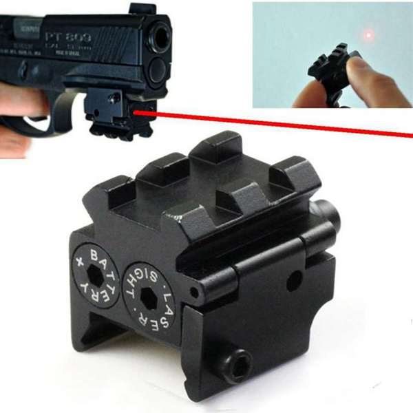 Tactical Mini Laser Sight for Pistols with Rail Mount