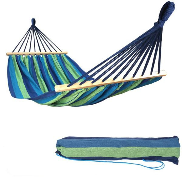 Garden Hammock with Wooden Spread Bars and Travel Bag