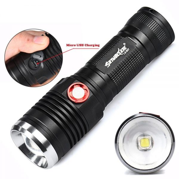 MX Power Rechargeable Flash Light Torch