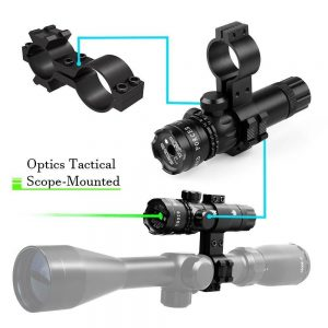 Green Laser Sight With 2 Adjustable Mounts-Black 1