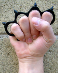 Heavy Steel Knuckles with Spikes (Black)