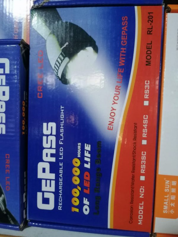 Gepass RL-201 Powerful Torch | Rechargeable