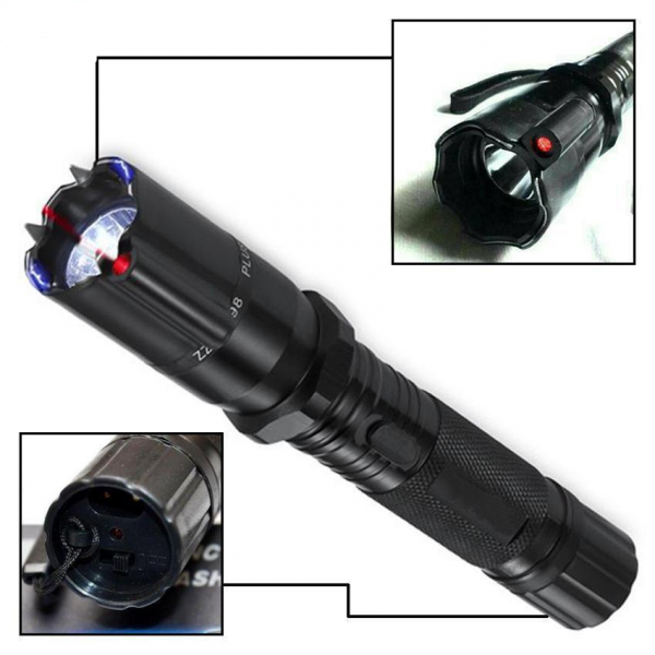Tactical Police Torch with Taser and Laser Pointer