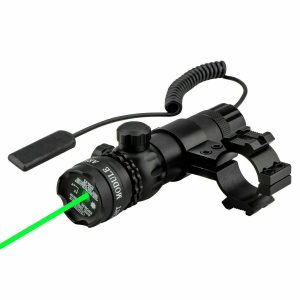 Green Laser Sight With 2 Adjustable Mounts-Black